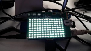 The PiLite has a total of 126 leds in a 14x9 grid