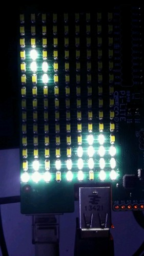 Tetris on LEDs