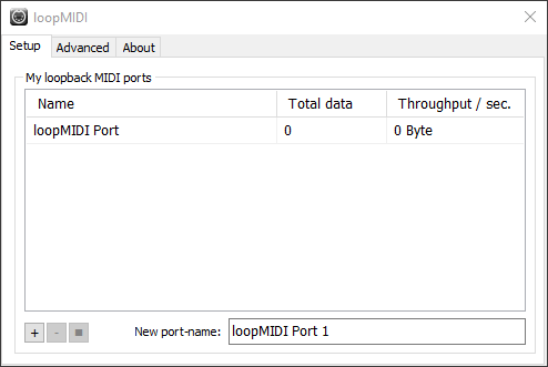 loopMIDI port has now been added